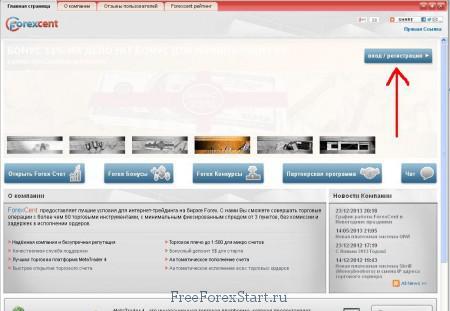 Сайт Форексцента